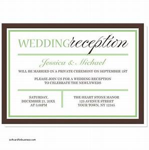 Wedding invitation elegant wedding reception invitation for Wedding invitation wording samples ceremony and reception