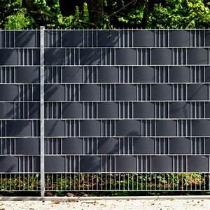 Sichtschutz Für Doppelstabmattenzaun : pvc sichtschutzstreifen doppelstabmattenzaun anthrazit ~ Michelbontemps.com Haus und Dekorationen