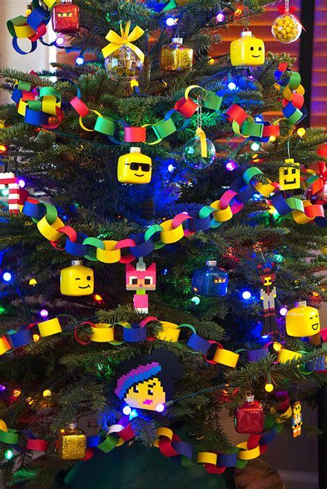kids lego themed christmas tree happiness is homemade