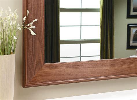 walnut mirror frame woodworking project woodsmith plans