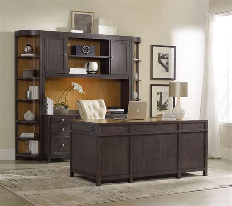 south park gray home office wall unit  hooker
