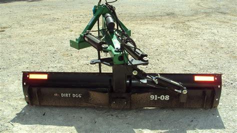 dirt blade dirt 3pt 8 duty hyd angle grader blade 9108 magnolia tx 119507085