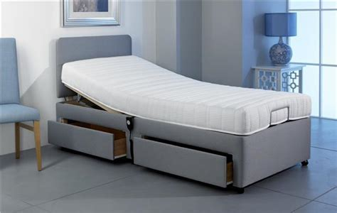 3ft Single Electric Adjustable Bed + 2 Drawer Storage + 5 Year Warranty