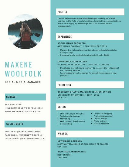 Creative Resume Templates by Blue Creative Resume Templates By Canva