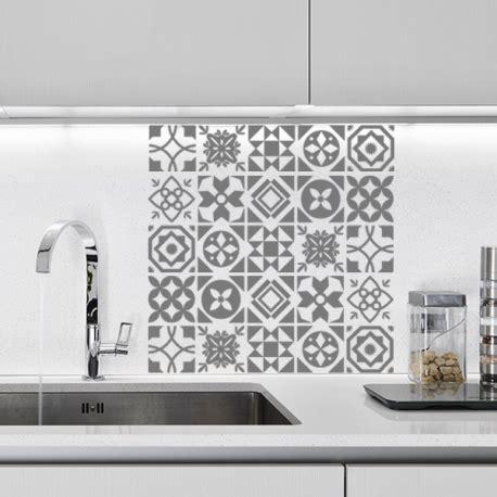 pochoir salle de bain planche de stickers carreaux de ciment optimistick