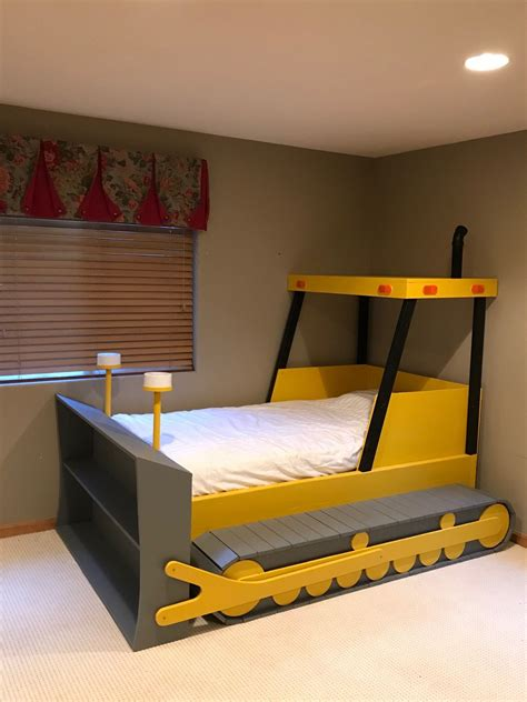 twin size bulldozer bed plans  format create