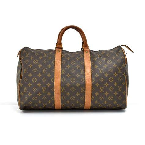 louis vuitton duffle keepall vintage  duffle  brown monogram canvas weekendtravel bag