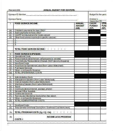 budget template word   word documents