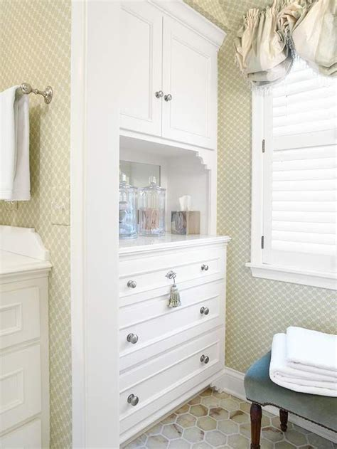 built in bathroom cabinets balloon shades toilets and nooks on pinterest