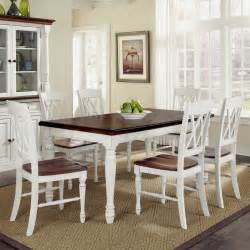 Dining Room Table Sets Home Styles Monarch 7 Dining Table Set With 6 X Back Chairs White Oak Dining