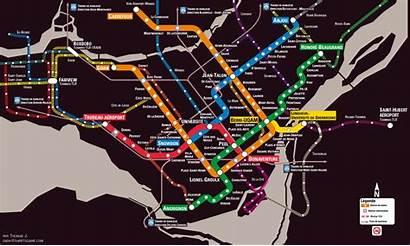 Montreal Metro 2050 Maps Fantasy Subway Plan