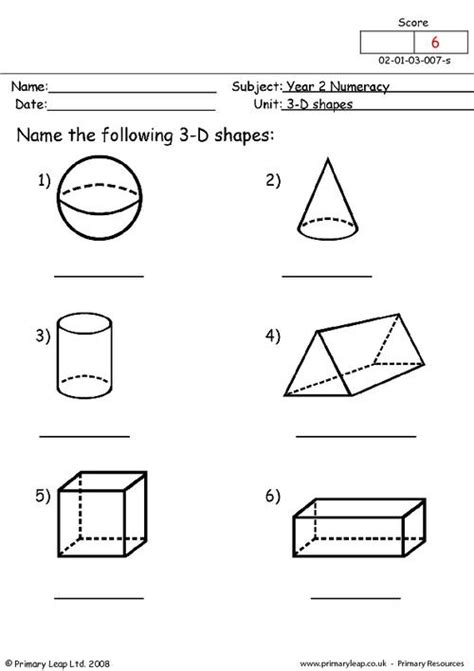 shapes primaryleapcouk