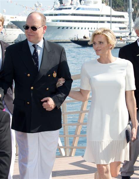 worn  week princess charlene wears dior   yacht
