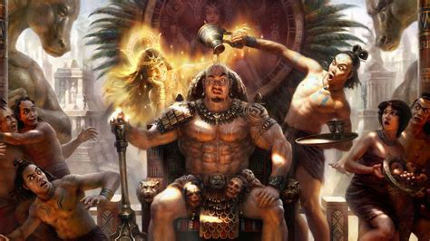 Funny Aztec warriors wallpaper - backiee
