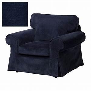 IKEA EKTORP Armchair SLIPCOVER Chair Cover VELLINGE DARK BLUE