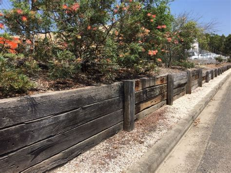 australian railway sleeper walls  fences