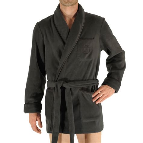 veste de chambre homme veste d 39 interieur baikal christian en polaire gris