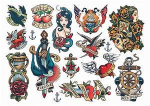 Temporary Tattoos Vintage Style Rockabilly Temporary ...