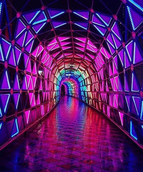 neon tunnel neon aesthetic neon rainbow aesthetic