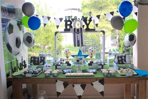 soccer baby shower soccer baby shower ideas photo 6 of 19 catch my