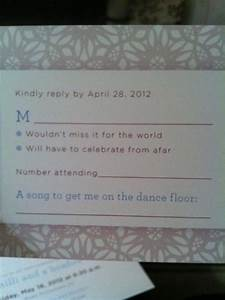 it39s a long story wedding reply rsvp cards With wedding invitation with song request