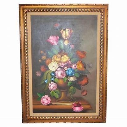 Nancy Lee Still Oil Flowers Painting Framed