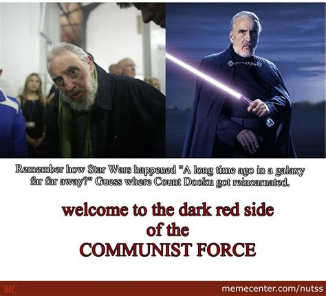 Count Dooku Meme - fidel castro and count dooku by nutss meme center