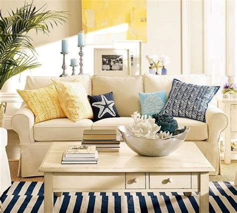 themed living room decor modern interior decorating with blue stripes and nautical