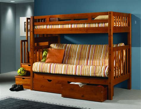 futon bunk bed wood astonishing bunk bed with futon on bottom atzine