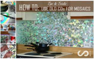 do it yourself kitchen backsplash how to use cds for mosaic craft projects diy