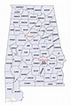 Here are the 67 counties of Alabama & the date of ...