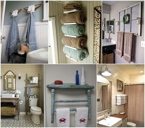 towel rack ideas for small bathrooms 15 cool diy towel holder ideas for your bathroom