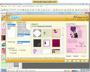 Screenshots of wedding card designer software to view process for Wedding invitation maker program