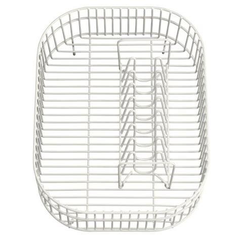 kitchen sink baskets white kohler large basin coated rinse wire basket for ravinia 5648