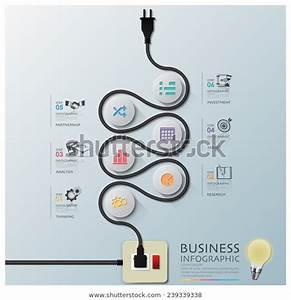 Curve Electric Wire Line Diagram Business Stock Vector