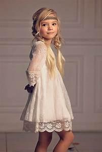 Robe Boheme Fille : girls christmas dress first communion dress flower girl off white lace dress boho flower girl ~ Melissatoandfro.com Idées de Décoration