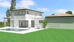 plan de maison a etage plans de maisons d39architecte With surface d une maison 4 toitures monopentes et volumes simples pour cette