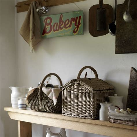 Fill Baskets And Bowls  Country Kitchen Storage Ideas