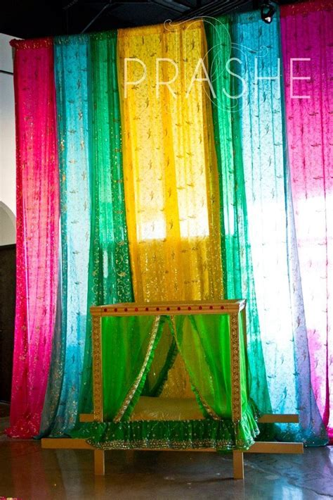 saree backdrop decor baby shower