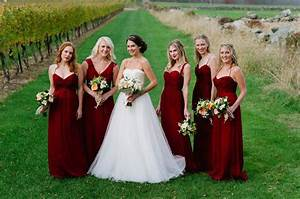 amsale bridesmaids in cranberry photography by ashley o With cranberry dresses for wedding