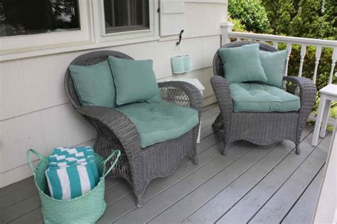 furniture gray wicker porch swing glider with hangig