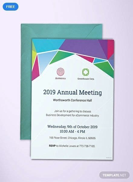 Cool Invitation Templates For Business Meeting Picture