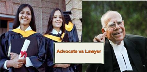 difference  advocate  lawyer