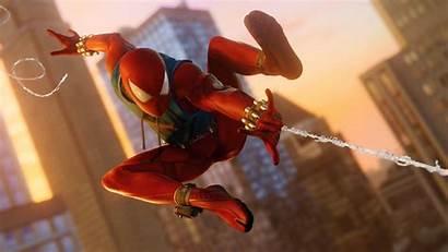 Spider Scarlet Ps4 4k Marvel Spiderman Wallpapers