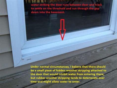 leaking sliding bottom door windows glass rain window water seal leak leaks frame during repair doityourself location profile damage