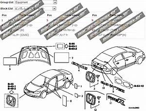 Twy Trading  Honda Civic Type R Fd2 Genuine Parts Diagrams