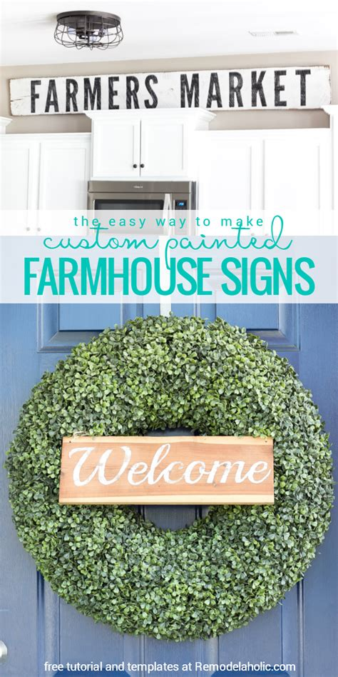 remodelaholic    painted farmhouse signs
