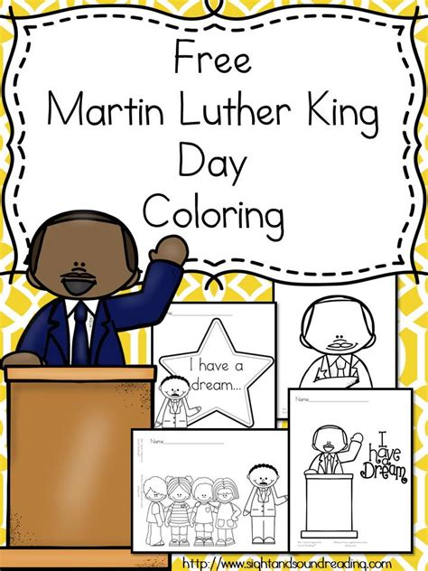 martin luther king day coloring for preschool kindergarten