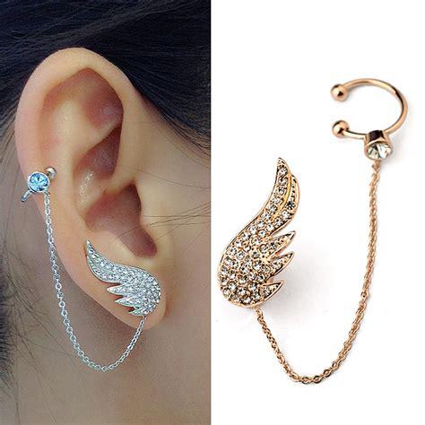 2015 New Style Fashion Ear Cuff Jewelry Inlay Austrian