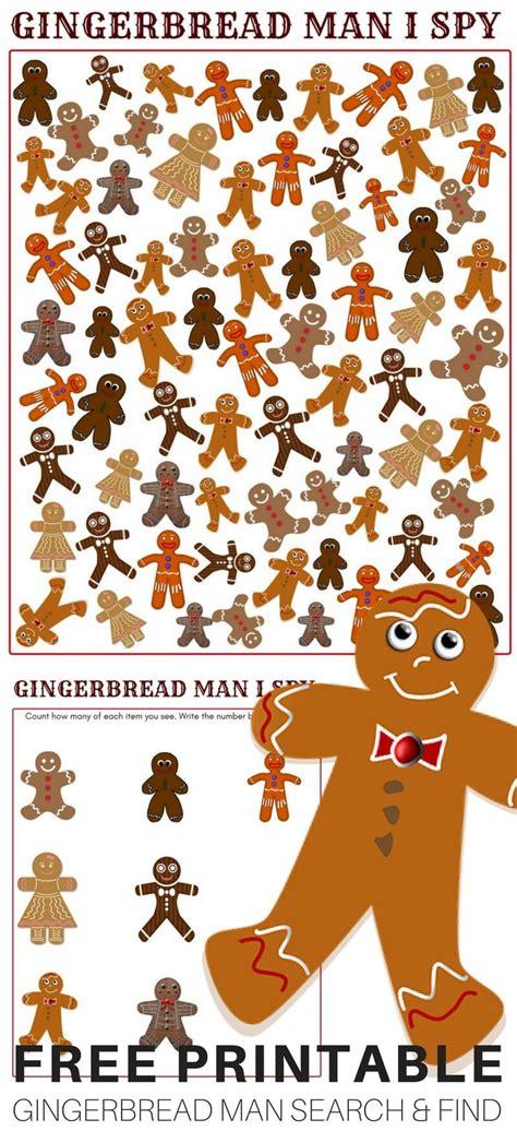 gingerbread man game  printable  images